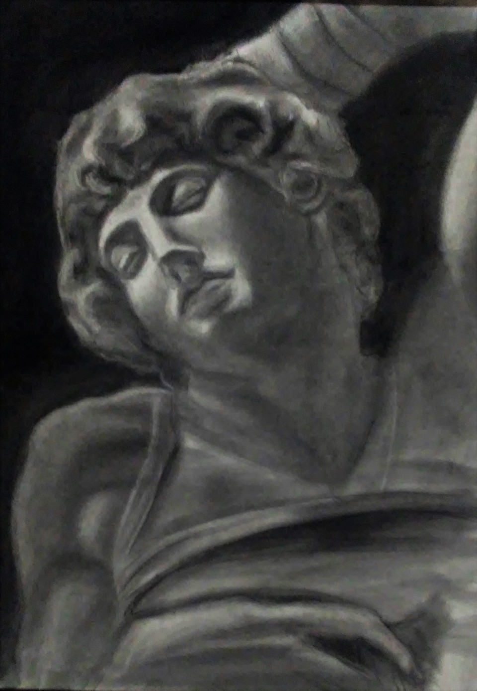 Dying Slave Charcoal drawing